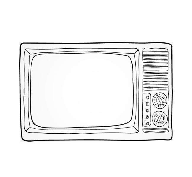 电视简笔画